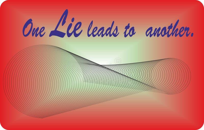 Wycena życia Jeden kłamstwo prowadzi inny, Vetor kartoteka, Łatwa edtable tekst ilustracji