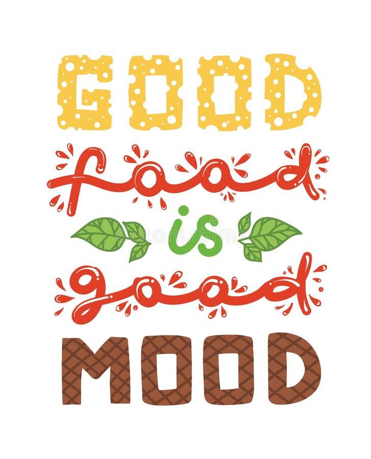 Wycena ` dobry jedzenie jest dobrym trybowym ` ilustracji