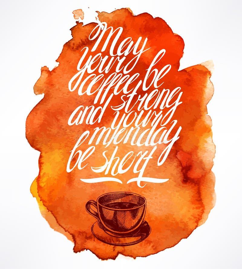 Wycena i ranku kawa ilustracji