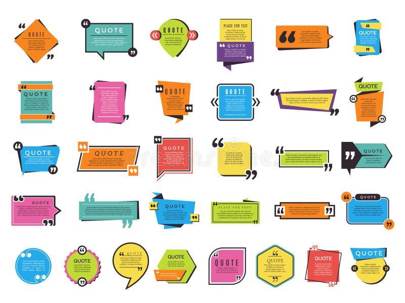 Wycena kształty Graficzne formy dla teksta zauważają wektorowej różnicy projekty i zauważają ilustracji