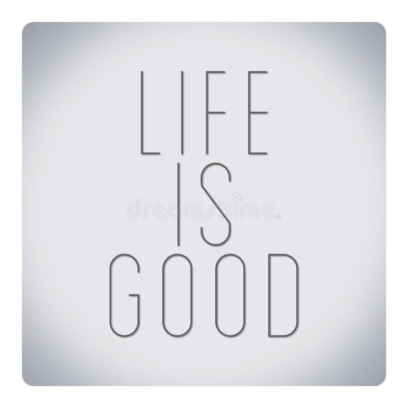 Wycena o życiu - życie jest dobry royalty ilustracja