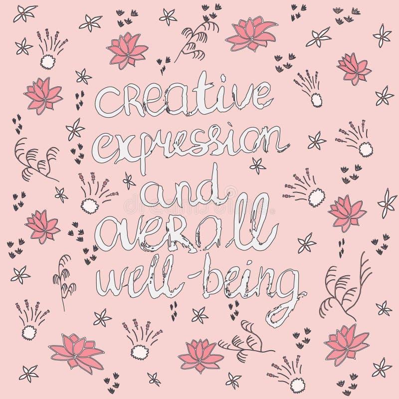 Wycena robić z atramentu i doodle kwiatami ilustracji
