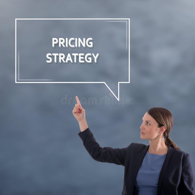 WYCENA strategii biznesu pojęcie kobieta jednostek gospodarczych obrazy royalty free