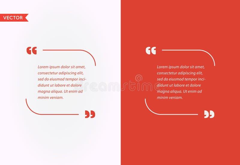 Wycena szablonu bąbel Szablon wycena Wektorowy set Modni kolory ilustracja wektor