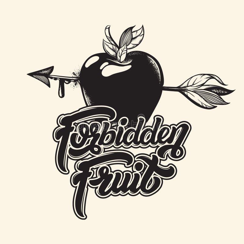 Wycena Typographical tło zakazany owoc royalty ilustracja