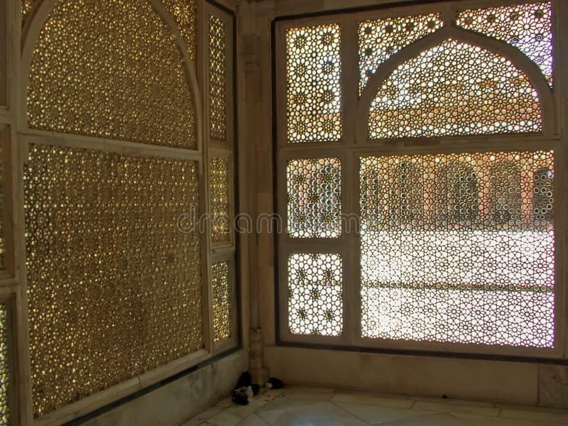 wycięte islamskie okno fotografia stock