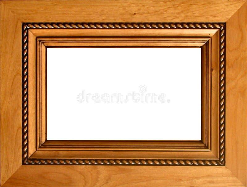 wycięte ramowy drewna fotografia royalty free