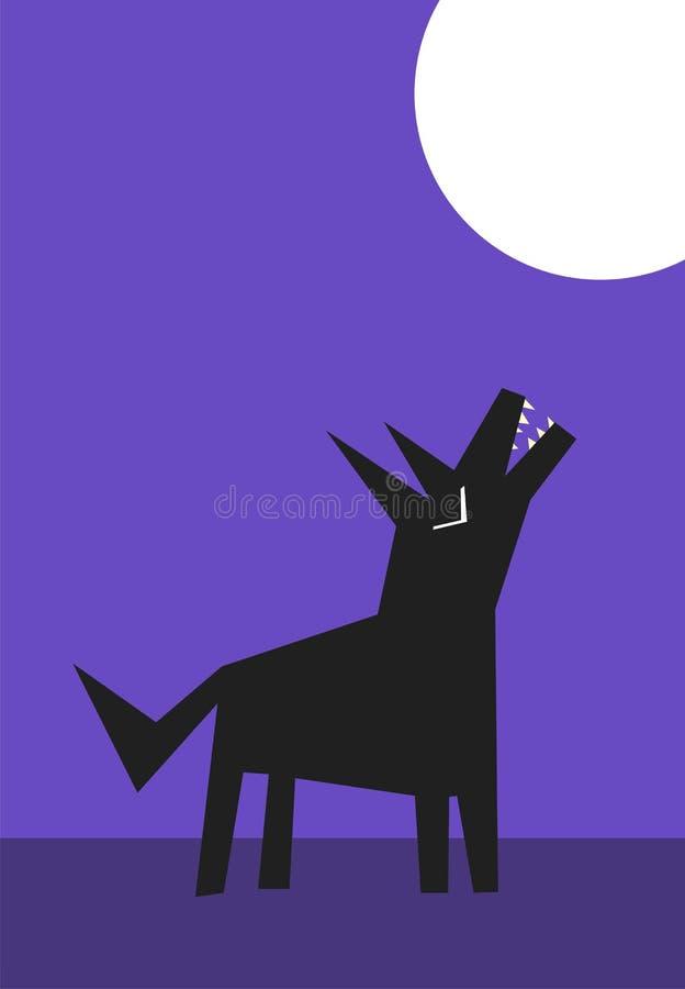 wycie wilk ilustracji