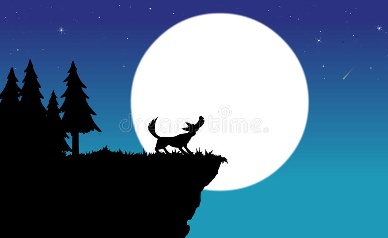 wycie wilk royalty ilustracja
