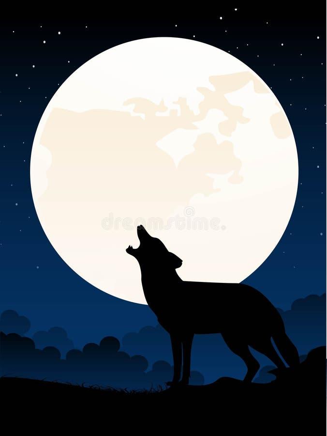 wycie wilka royalty ilustracja