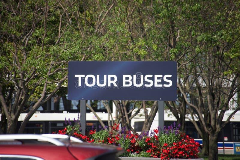 Wycieczka Autobusowa Podnosi W górę punktu zdjęcia stock