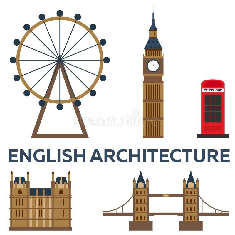 Wycieczka Londyn Angielski architektura wakacje Wycieczka samochodowa Turystyka journeyer Podróżny ilustracyjny Londyński miasto  ilustracja wektor