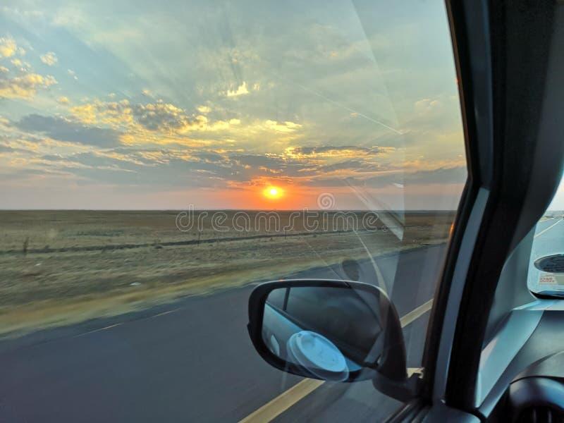 Wycieczka samochodowa w pięknym formacie fotografia royalty free