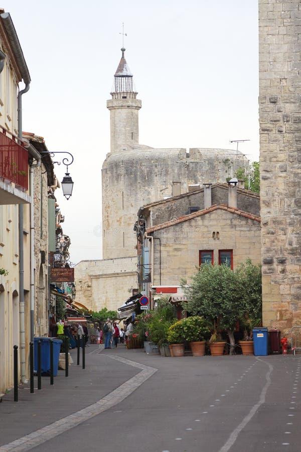 Wycieczka turysyczna De Constance, Aigues-Mortes, Francja zdjęcie stock