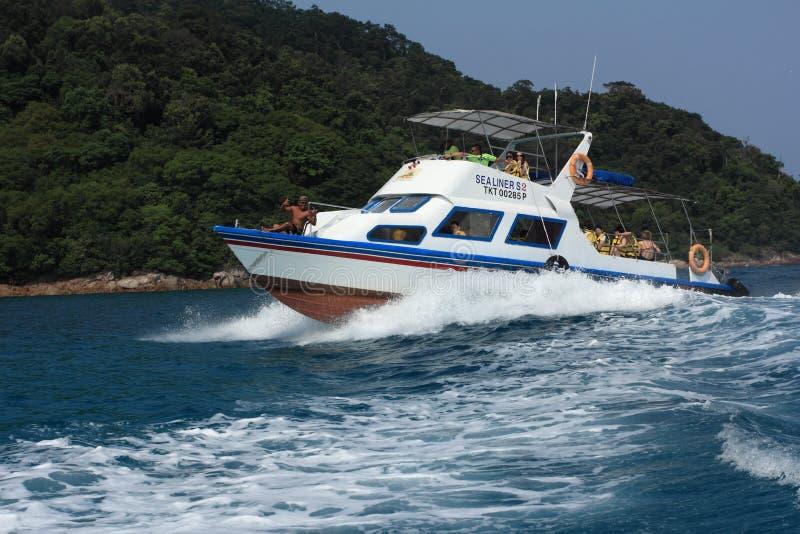 Wycieczka turysyczna piękna wyspa zdjęcie stock
