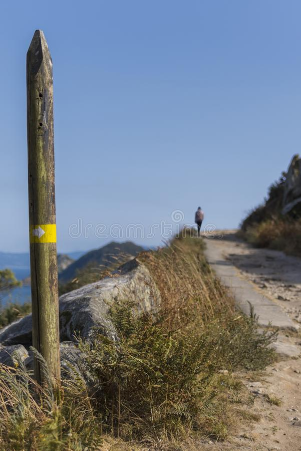Wycieczkować ślad w Cies wyspach zdjęcia stock