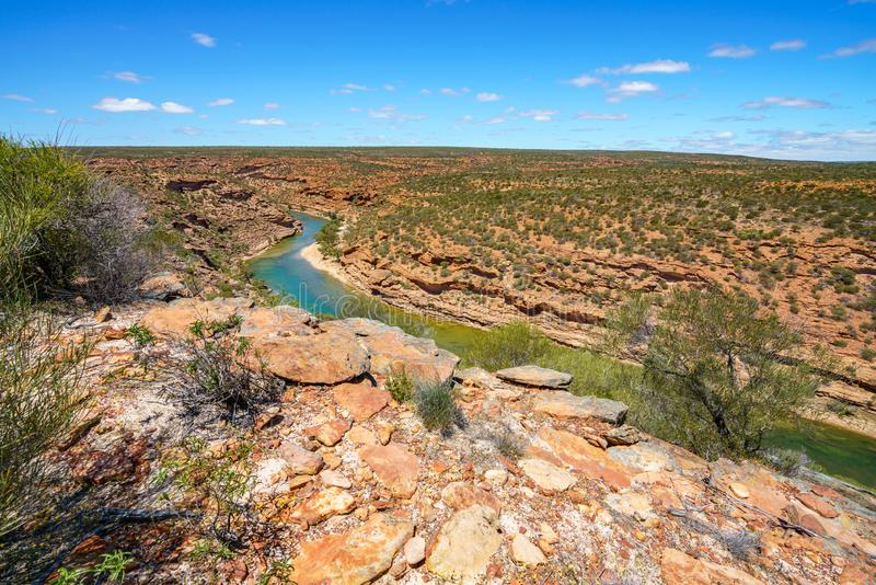 Wycieczkować natury pętli nadokiennego ślad, kalbarri park narodowy, zachodnia australia 1 zdjęcie royalty free