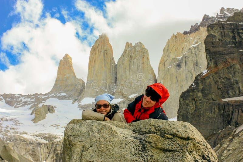 Wycieczkować Patagonia zdjęcie stock