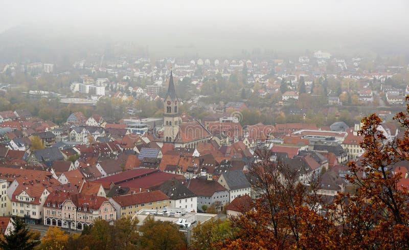 Wycieczkować w beuron zakończenia Tuttlingen mieście w południowym Germany zbyt fotografia stock