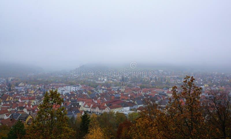 Wycieczkować w beuron zakończenia Tuttlingen mieście w południowym Germany zbyt obraz royalty free