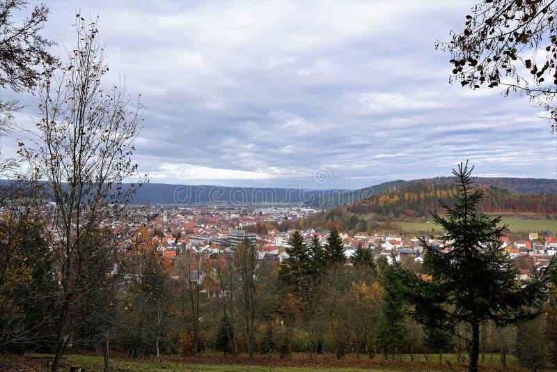 Wycieczkować w beuron zakończenia Tuttlingen mieście w południowym Germany zbyt zdjęcie stock