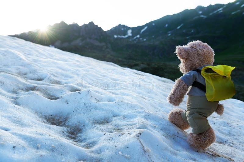 Wycieczkować w górach obrazy royalty free