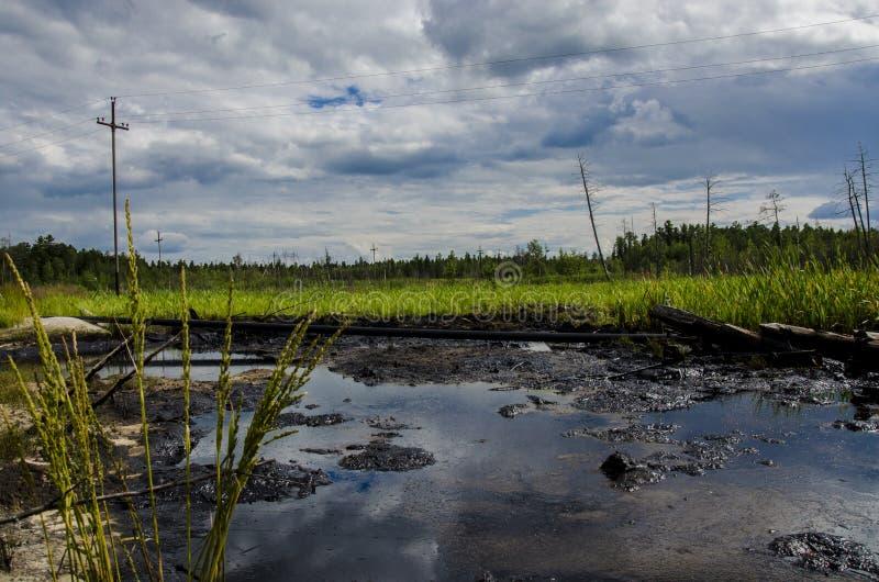 Wyciek ropy fotografia stock