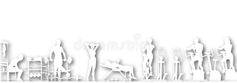 wycinanki gym royalty ilustracja
