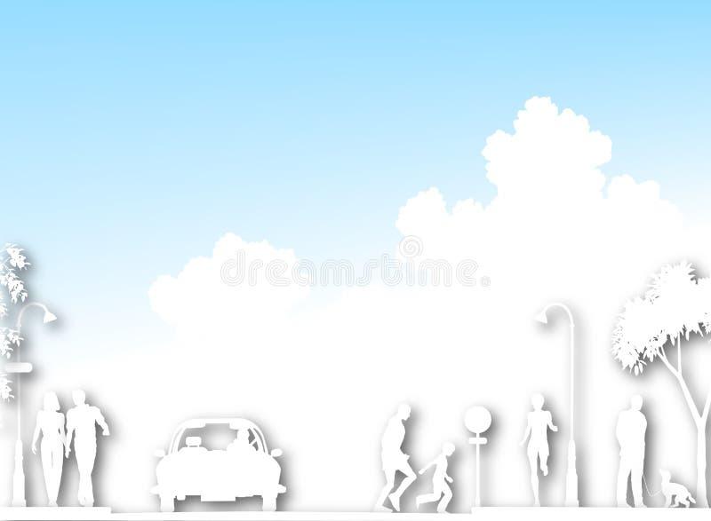 wycinanki ulica ilustracja wektor
