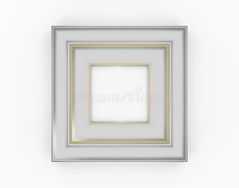 wycinek cyfrowego związków zawierających ramowego gradientowego siatki ilustracyjnego zera ścieżki srebra obrazy royalty free
