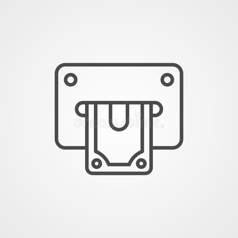 Wycofaj symbol ikony wektora royalty ilustracja