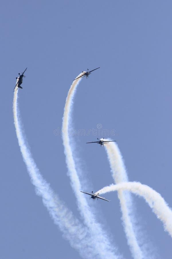 Wyczynów kaskaderskich samoloty obrazy royalty free