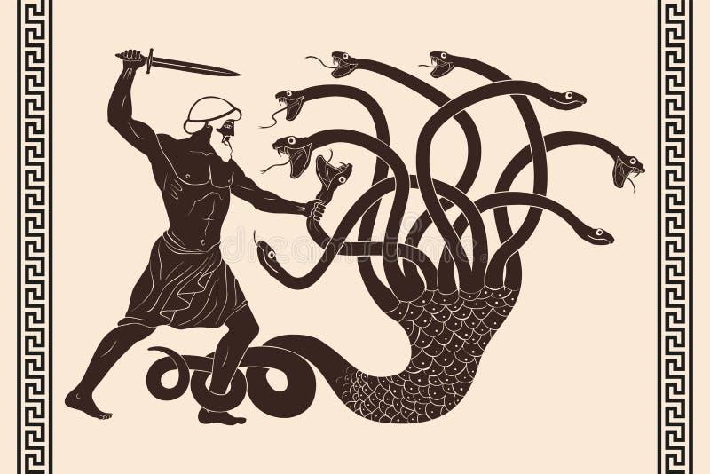 12 wyczynu Hercules ilustracja wektor
