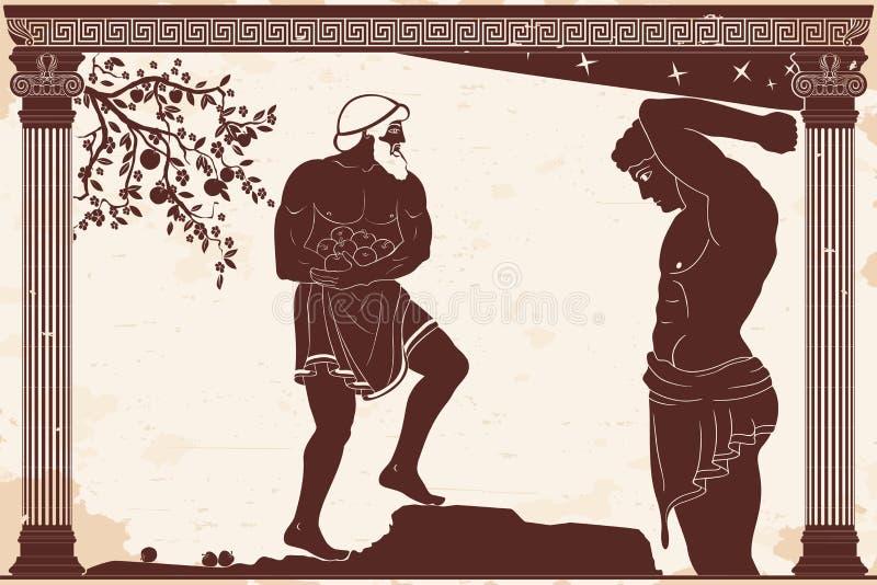 12 wyczynu Hercules ilustracji