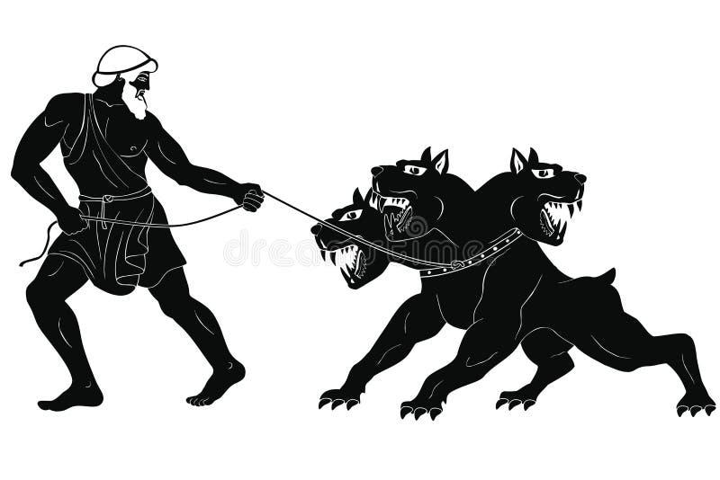 12 wyczynu Hercules royalty ilustracja