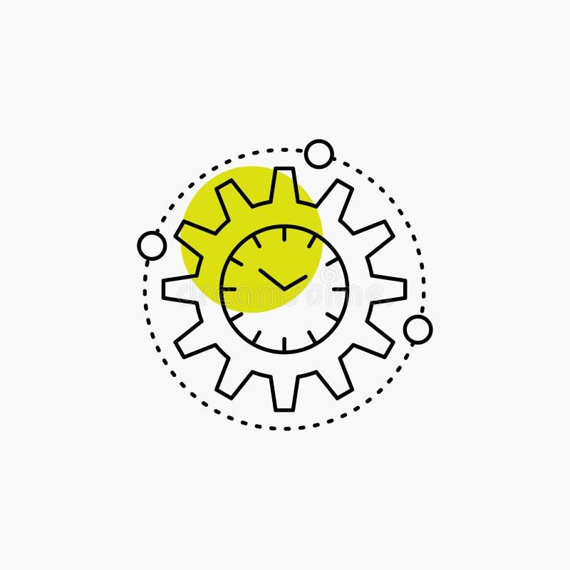 Wydajność, zarządzanie, przerób, produktywność, projekt Kreskowa ikona ilustracji