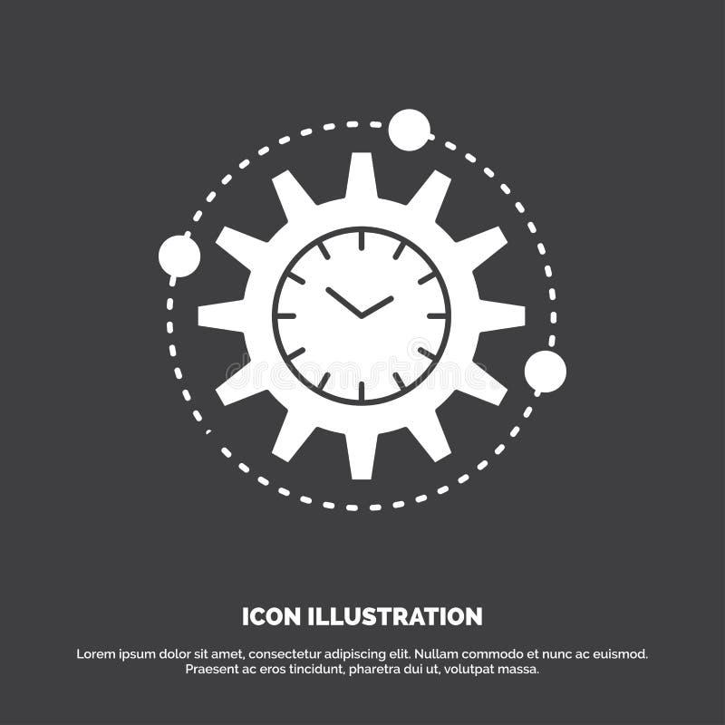Wydajno??, zarz?dzanie, przer?b, produktywno??, projekt ikona glifu wektorowy symbol dla UI, UX, strona internetowa i wisz?cej oz ilustracja wektor