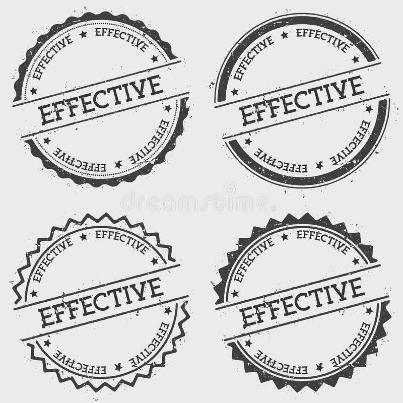 Wydajny insygnia znaczek odizolowywający na bielu royalty ilustracja
