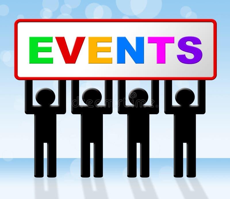 Wydarzeń wydarzenia Reprezentują funkcj sprawy I sprawę royalty ilustracja