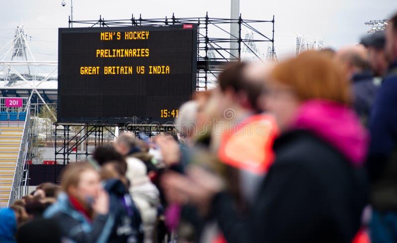 wydarzenia London olimpijski przygotowywają test fotografia royalty free