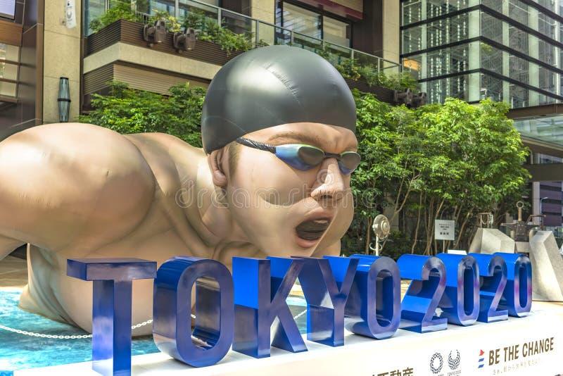 Wydarzenie «Był zmianą Tokio 2020 «w Tokio w 2020 organizujący na temacie przyszłościowe olimpiady obraz stock