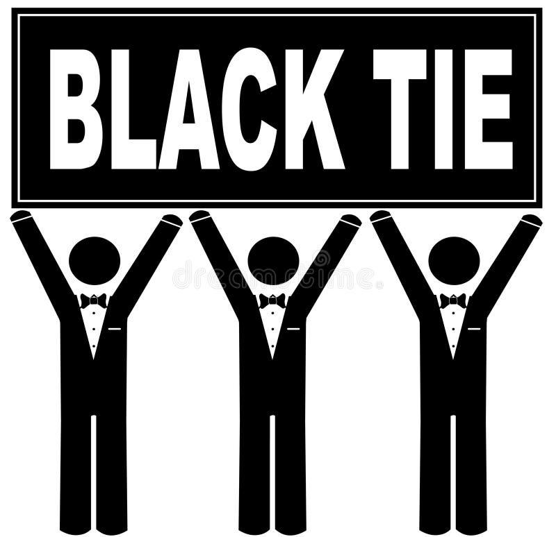 wydarzenie czarny krawat royalty ilustracja