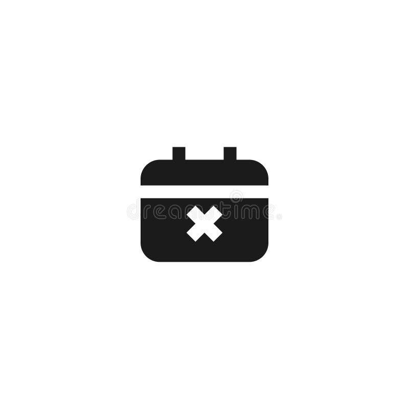 Wydarzenie ikony rozkład nie udać się projekt agenda kalendarz z przecinającym ocena symbolem prosty czysty fachowy zarządzania p ilustracja wektor