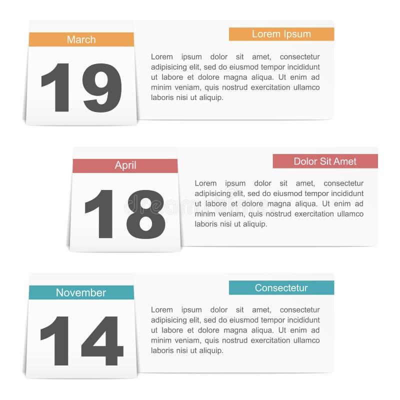 Wydarzenie kalendarz ilustracji
