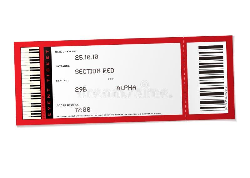wydarzenie koncertowy bilet royalty ilustracja