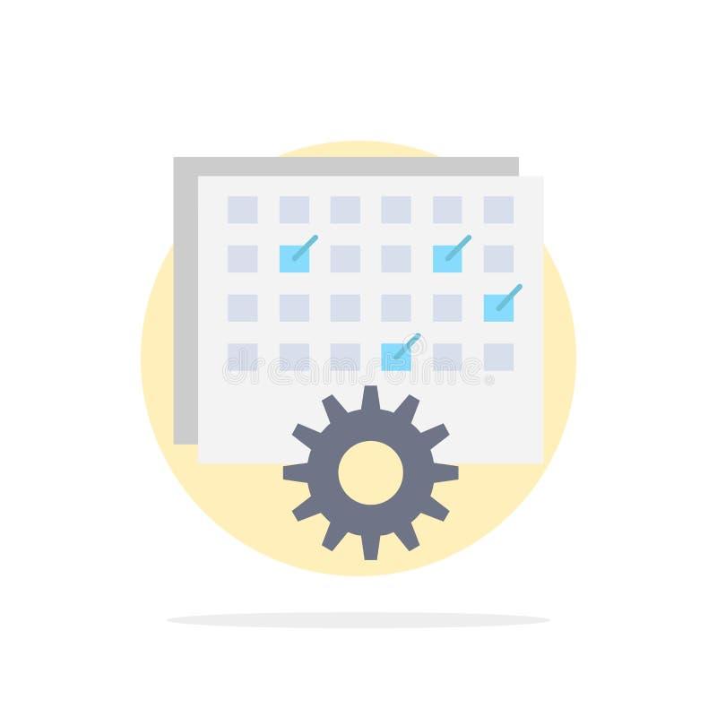 Wydarzenie, zarządzanie, przerób, rozkład, synchronizuje Płaski kolor ikony wektor royalty ilustracja