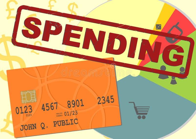 wydatki ilustracja wektor