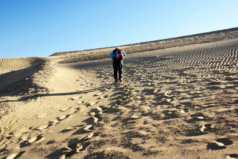 wydmowy wspinaczka piasek zdjęcie royalty free