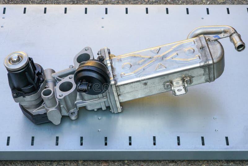 Wydmuchowego gazu recirculation klapa lub EGR klapa z chłodno obraz stock