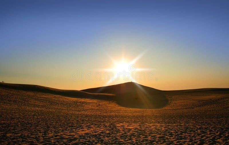 wydmy nad planie słońce obraz stock